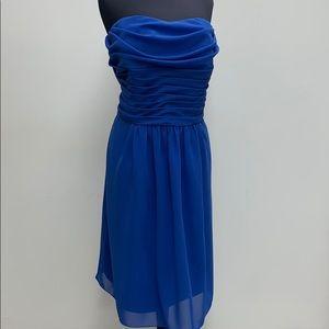 Short formal starry sapphire dress